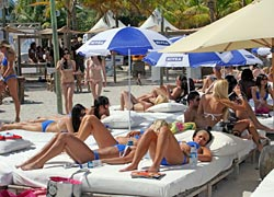 Nikki Beach on Ocean Drive Miami Beach